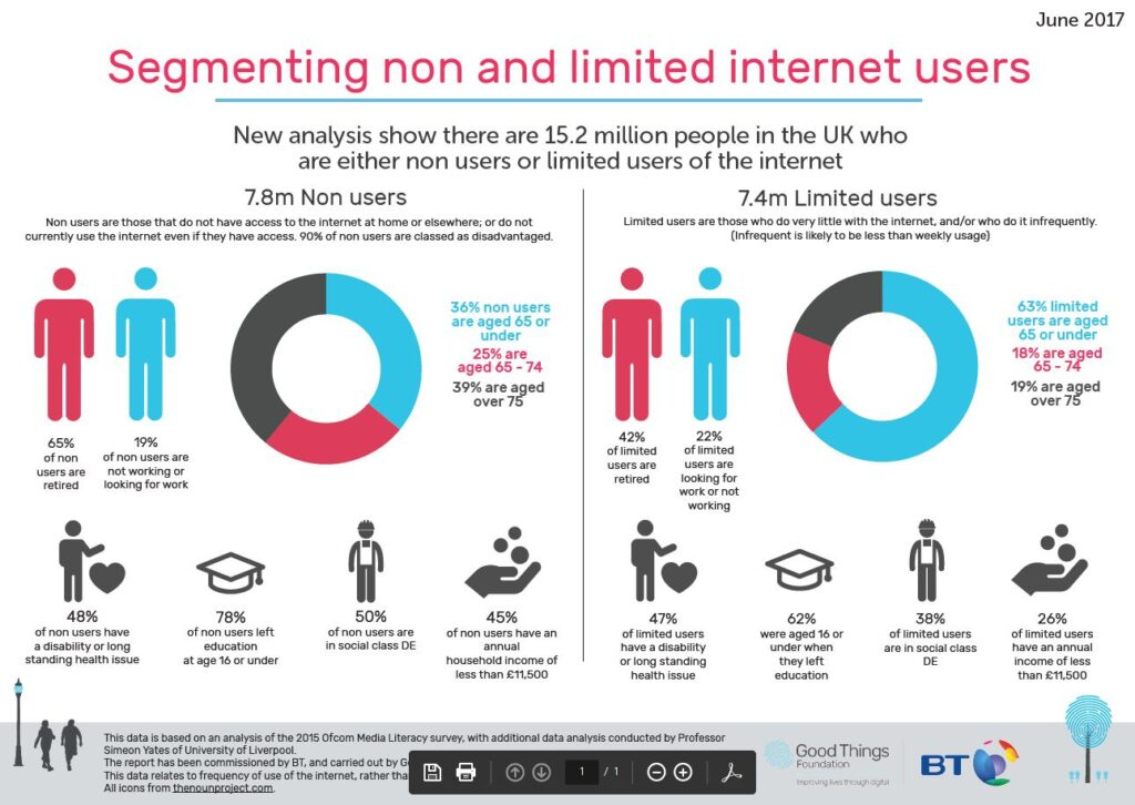 Digital Divide Infographic | Segmenting non-users | Digital Inclusion