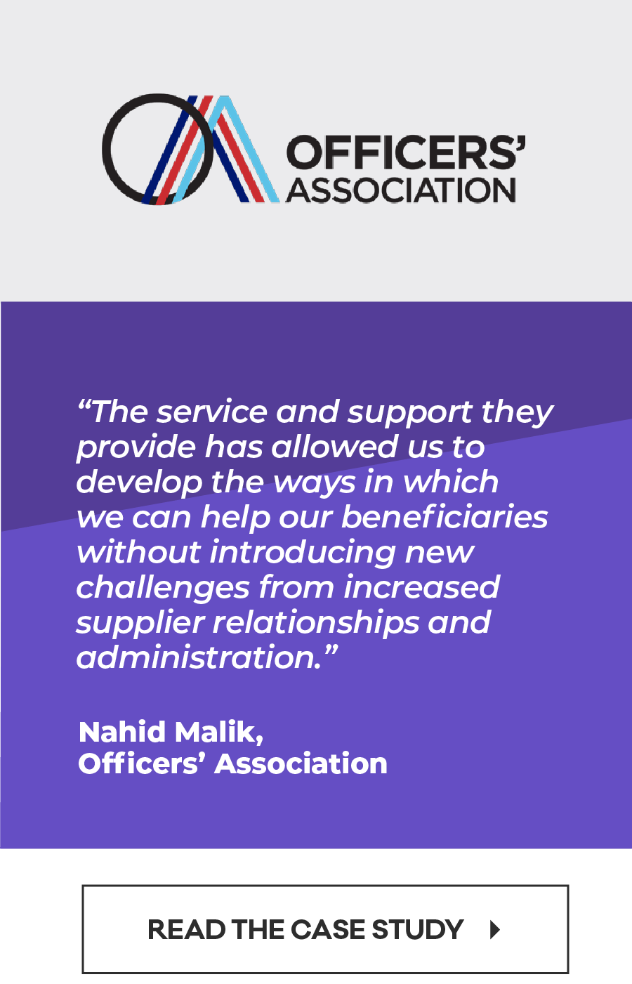 """Customer testimonial 